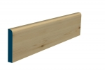 19 x 119mm Pre-Varnished Redwood Pine Bullnose Skirting (5x2.4m)