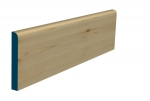 19 x 144mm Pre-Varnished Redwood Pine Bullnose Skirting (5x2.4m)