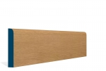 19 x 119mm Pre-Varnished Solid White Oak Bullnose Skirting (5x2.4m)