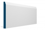 19 x 194mm PRE-PAINTED Wood Chamfered Skirting - WHITE (5x2.4m)