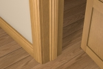 12 x 44 Pre-Varnished Solid White Oak Ogee Door Stop (Single Door)