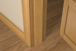 12 x 65 Pre-Varnished Solid White Oak Square Edge Door Stop (Single Door)