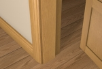 12 x 85 Pre-Varnished Solid White Oak Square Edge Door Stop (Single Door)