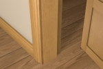 12 x 94 Pre-Varnished Solid White Oak Square Edge Door Stop (Single Door)