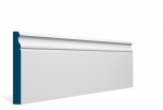 19 x 144mm PRE-PAINTED Wood Ogee Skirting - WHITE (5x2.4m)