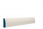 19 x 69mm PRE-PAINTED Wood Rounded Architrave/Skirting - IVORY