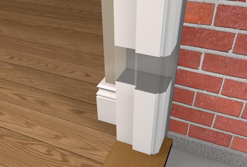 69mm Pre Painted Wood Rebated External Door Frame   White U20ac75.00 (inc VAT)