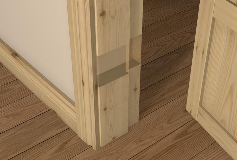 & Pre-Varnished Redwood Rebated Door Frame Packs UK - DIY Timber Packs